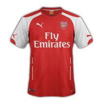 Arsenal's rumoured new home shirt for the 2014-15 season.