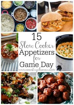 15 Slow Cooker Appetizers for Game Day- www.countrycleaver.com