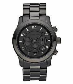 Michael Kors Black Chronograph Sport Watch   Dillard's Mobile