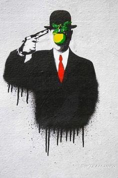 Banksy riffing on Magritte. #streetart #banksy