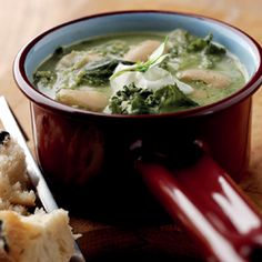 Kale and butter bean soup.