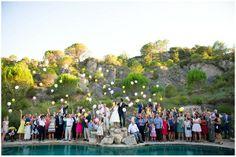 Wedding balloon release   Image Fleur Challis Photography