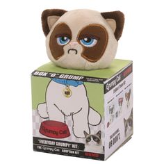 Buy GUND Box O Grump Everyday Grumpy Cat from the Official Site, Limited Availability and Free UK Delivery. Hand washable and suitable from ages Grumpy Cat Grumpy Cat, Adoption, Plush, Teddy Bear, Toys, Animals, Products, Foster Care Adoption, Activity Toys