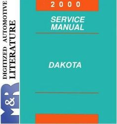 2000 Dodge Dakota AN Original Service Manual PDF format suitable for Windows XP, Vista, 7 DOWNLOAD