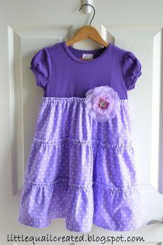 Little Quail: Tiered Twirly Dress Tutorial