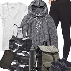 See more ideas about camping outfits, camp clothes and camping outfits for women Teen Fashion Blog, Fashion Outfits, Hiking Gear Women, Mountain Biking, Camping Outfits For Women, Hiking Outfits, Camouflage, Trekking Outfit, Autumn Winter Fashion