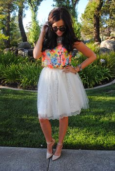 The lace and tulle Kayla skirt by Bliss Tulle
