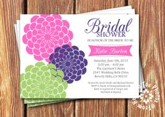 Bridal Shower Invitations by FromHeadtoToeDesigns on Etsy, $12.00