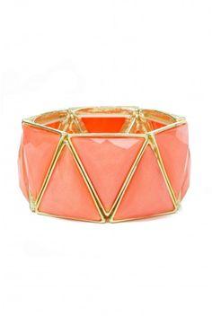 Type 3 Peach Prism Bracelet