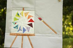 Artist's Studio for Amy ~ cocorico bee by Erin @ Why Not Sew? Quilts, via Flickr