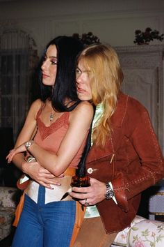 Cher & Gregg Allman in Los Angeles, California, 1977.