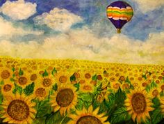 GALERIA PALOMO MARIA: ....VIAJANDO  ENTRE GIRASOLES.... Painting, Art, Water Colors, Paintings, Sunflowers, Art Background, Painting Art, Kunst, Drawings