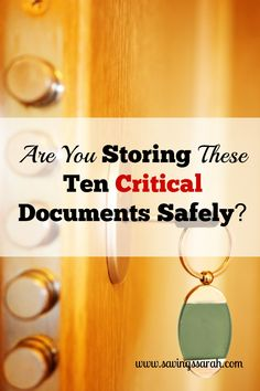how to keep your documents safe in canada