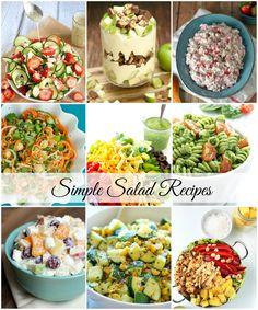Simple Salad Recipes-Sidedish | theidearoom.net
