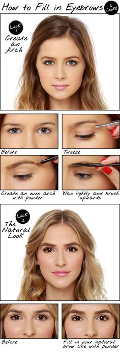 How to Fill in Eyebrows: Two Looks!