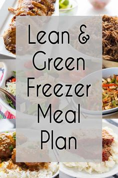 I've put together a plan with 6 easy to make Lean & Green Freezer Meals to help you eat healthy and stay on track - and the shopping list is included! meals make ahead healthy Premade Freezer Meals, Chicken Freezer Meals, Make Ahead Freezer Meals, Healthy Premade Meals, Freezer Cooking, Easy Lean Meals, Plan Ahead Meals, Freezable Meals, Cooking Hacks