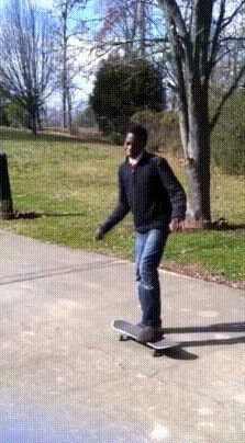 That's a bad skateboard when it can punch you in the Mouth!