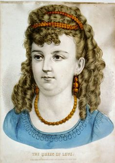 """Currier & Ives: """"The Queen of Love"""", between 1856 and 1907."""