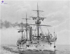 NMS Elisabeta,1888-1918 Romania Navy who had fought against  Potemkin pushing to run away.....