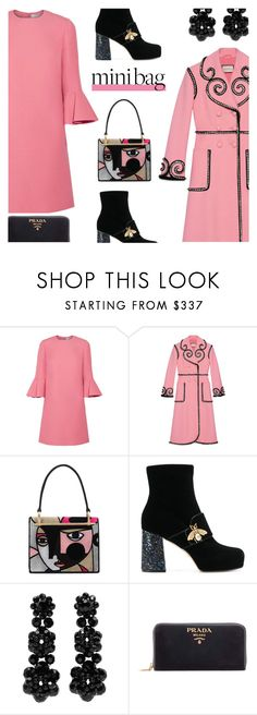 """Prada Mini Bag"" by rasa-j ❤ liked on Polyvore featuring Valentino, Gucci, Prada, Simone Rocha, gucci, womensFashion, minibags and SimonaRocha"