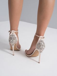 Chi Chi Livvy Heels from Chi Chi London inspired by this season's catwalk trends, whatever the occasion, look great in one of our stunning designs. Wedding High Heels, Wedding Shoes, Strappy Heels, Shoes Heels, Fast Fashion Brands, You Look Stunning, Embellished Heels, Navy Midi Dress, Chi Chi
