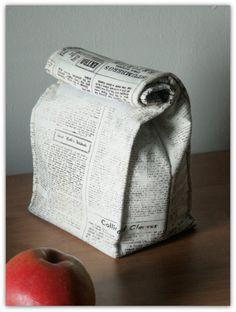 Torba na śniadanie - Gazeta (proj. cuba_libre), do kupienia w DecoBazaar.com