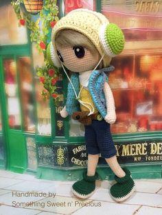 #crochet Crochet Baby Toys, Crochet For Boys, Love Crochet, Crochet Animals, Amigurumi Patterns, Amigurumi Doll, Doll Patterns, Crochet Patterns, Knitted Dolls