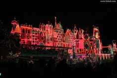 Christmas in Disneyland. It's a Small World After All at lit up. Christmas lights are sooo beautiful.