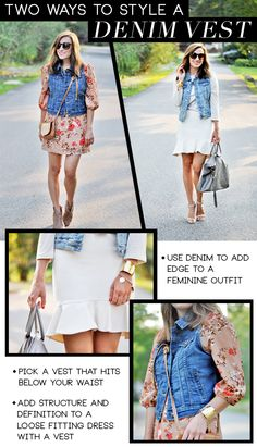 Style Sessions: How To Style A Denim Vest - theglitterguide.com