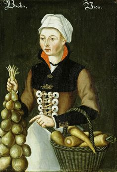 Vrouw uit Broek, anoniem, 1550 - 1574 What on earth are those giant lacing discs???