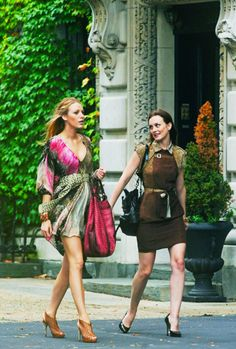 Blair and Serena. A day on the Upper East Side