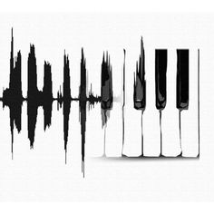 Grand Piano Graphic Vinyl Decal
