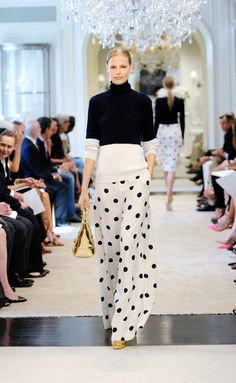 Catwalk photos and all the looks from Ralph Lauren - Pre Spring/Summer 2015 Ready-To-Wear New York Fashion Week Fashion Week, Look Fashion, Runway Fashion, Fashion Show, Womens Fashion, Fashion Design, Couture Fashion, Fashion Tips, Mode Top