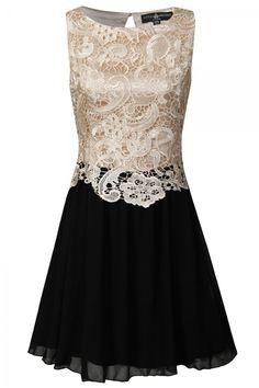 Black and Cream Lase little Mistress dress - Definatley a winner this season