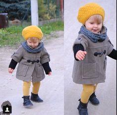 Winter coat and mustard leggings