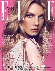 Angela Lindvall by Xavi Gordo for Elle Russia March 2014 - Dolce & Gabbana