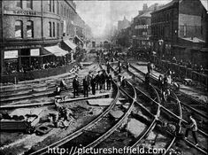 Laying large tram junction in Ecclesall Road