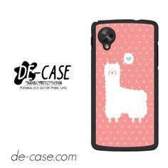 Pink Cute Alpaca For Google Nexus 5 Case Phone Case Gift Present YO