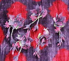The secret language of oya: Turkish Oya Needle Lace Brooch by bazaarbayar on Etsy, $25.00