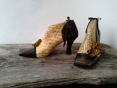 These are fabulous!! Wooden Shoes decoupage shoes decorative shoes by agnieszkamalik