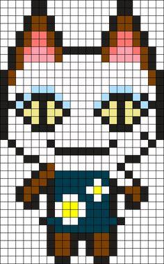Animal Crossing Olivia Perler Bead Pattern / Bead Sprite