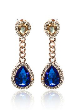 Gem Tear Drop Earrings £12.00
