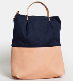 Waxed Canvas & Leather Crossbody Tote Bag by Gundula on Scoutmob Shoppe