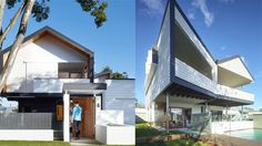 Modern Minimalist Nundah House in Brisbane Outdoor Living, Outdoor Decor, Modern Homes, Modern Minimalist, Geometric Shapes, Brisbane, Good Times, Exterior, House Design