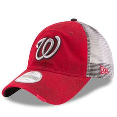 da8a2e92cac Washington Nationals New Era Team Rustic 9TWENTY Adjustable Hat - Red