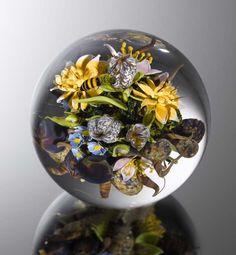 Stunningly Beautiful Glass Paperweights by Paul Stankard - http://designyoutrust.com/2014/09/stunningly-beautiful-glass-paperweights-by-paul-stankard/
