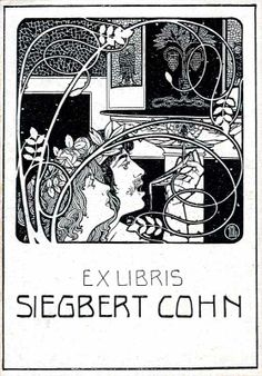 Ephraim Moses Lilien (1874-1925): ex libris Siegbert Cohn (ca. 1900)