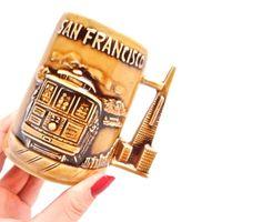 It's so tacky I love it! Vintage San Francisco Mug Retro 1960s Golden Gate Bridge by MaejeanVINTAGE,