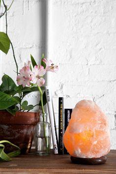 Love this Himalayan salt lamp.