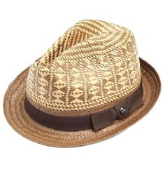 Two Tone Straw Hat by Ted Baker $75 | Finish off summer outfits with this two-tone Trilby hat from Ted Baker London. Featuring a grosgrain ribbon, this lightweight hat is the perfect warm weather topper for lounging poolside or drinks on the patio | GOTSTYLE.ca